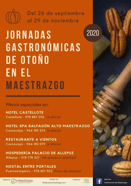 Cinco restaurantes del Maestrazgo proponen un menú de otoño hasta el 29 de noviembre