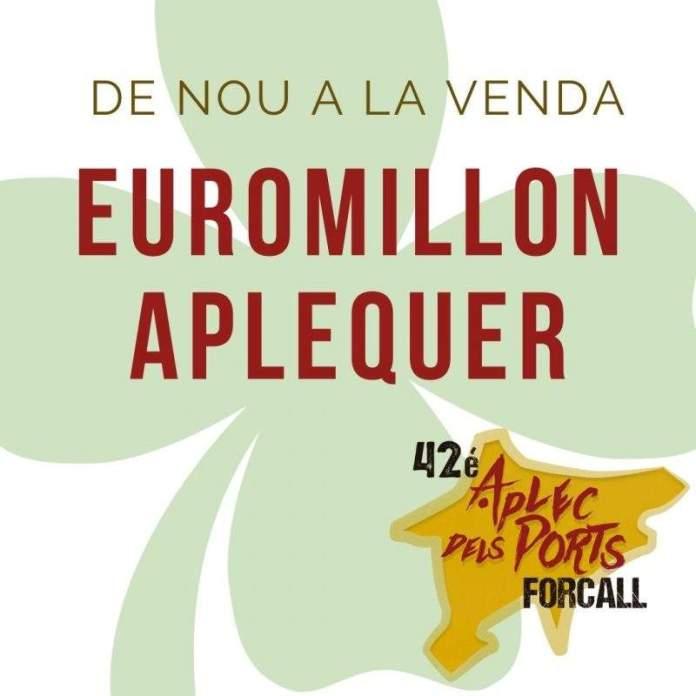 Cartell de l'Euromilió aplequer