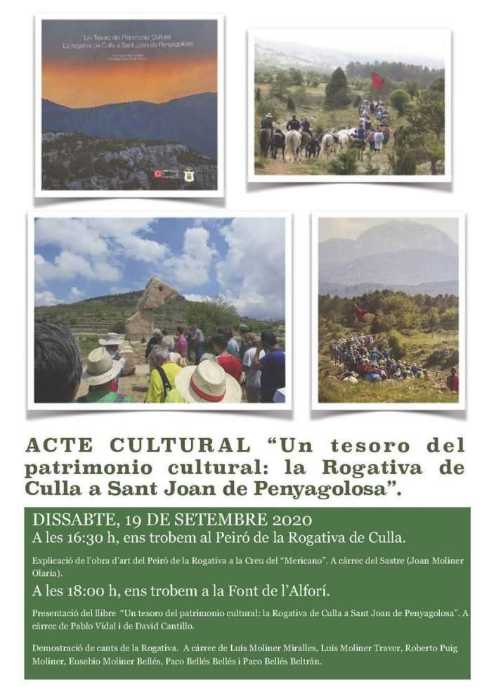 Cartell acte cultural sobre la Rogativa