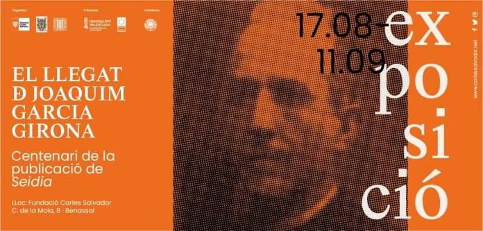 Invitació a l'exposició El llegat de Joaquim Garcia Girona