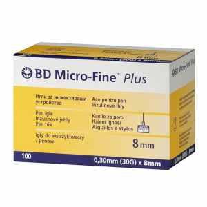 Иглы Микро-Файн Плюс 8мм (Micro-Fine Plus) - 100 шт.