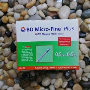 Купить инсулиновые шприцы БД Микро-Файн 8мм 100 шт