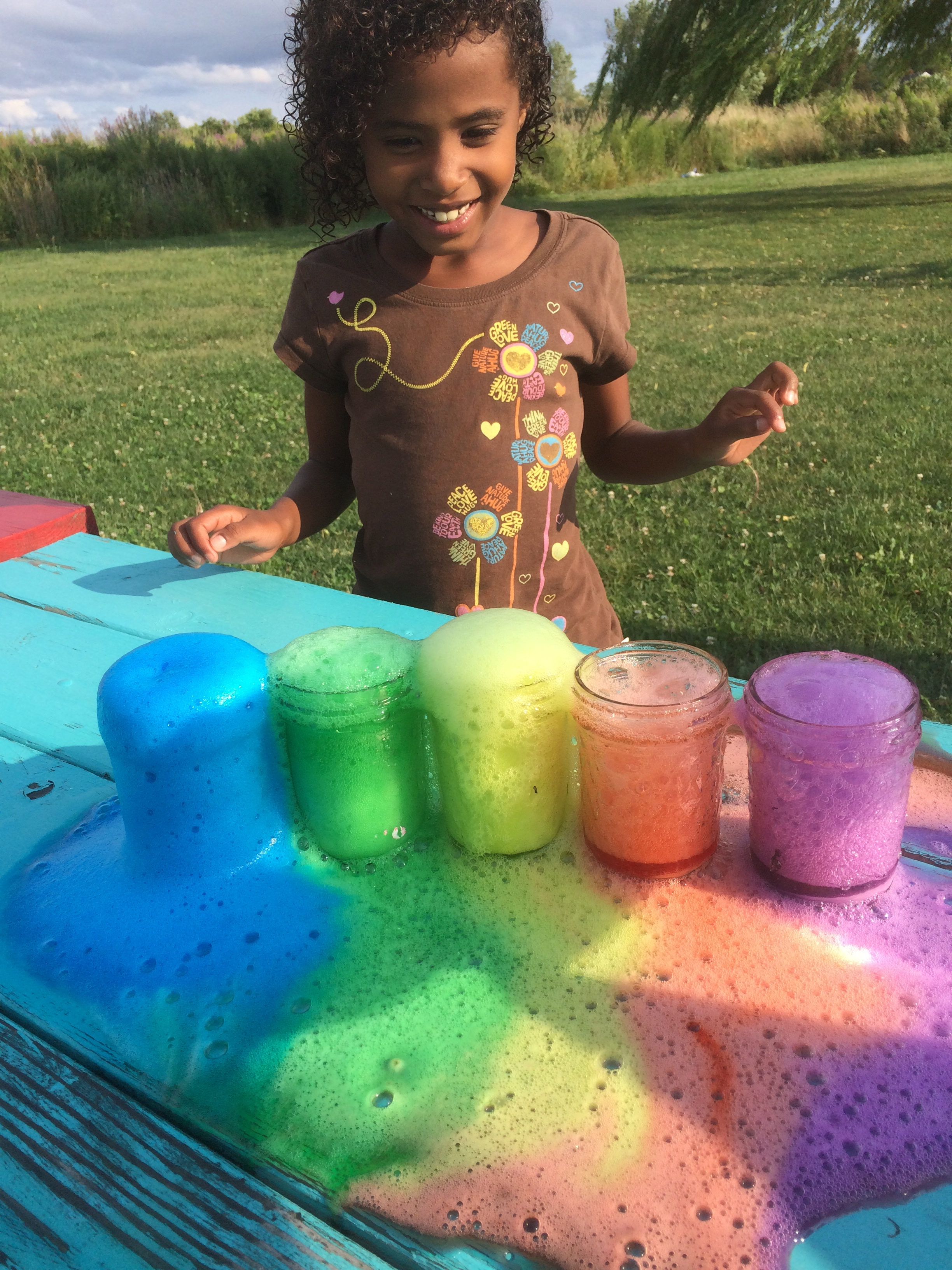 Rainbow Volcano Science Experiment