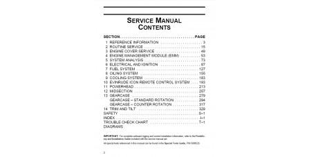 Service Manual 2011 Evinrude E-tec 200-225-250-300 Hp 90