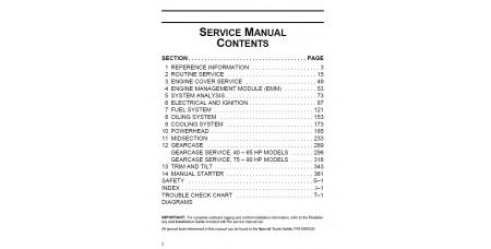 Service Manual 2011 Evinrude E-tec 40-50-60-65-75-90 Hp (p