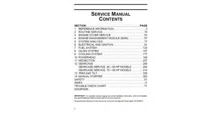 Service Manual 2013 Evinrude E-tec 40-50-60-75-90 Hp (p/n