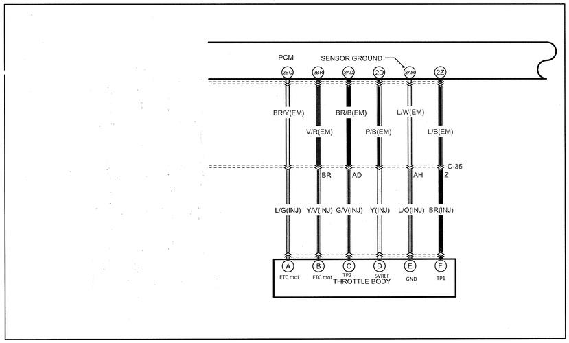 2010 Mazda CX9 Electronic Throttle Control Circuit