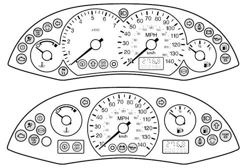 Saturn Dashboard Warning Lights, Saturn, Free Engine Image