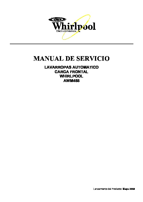 Whirlpool AWM468 AWM468 pdf Diagramas de lavarropas