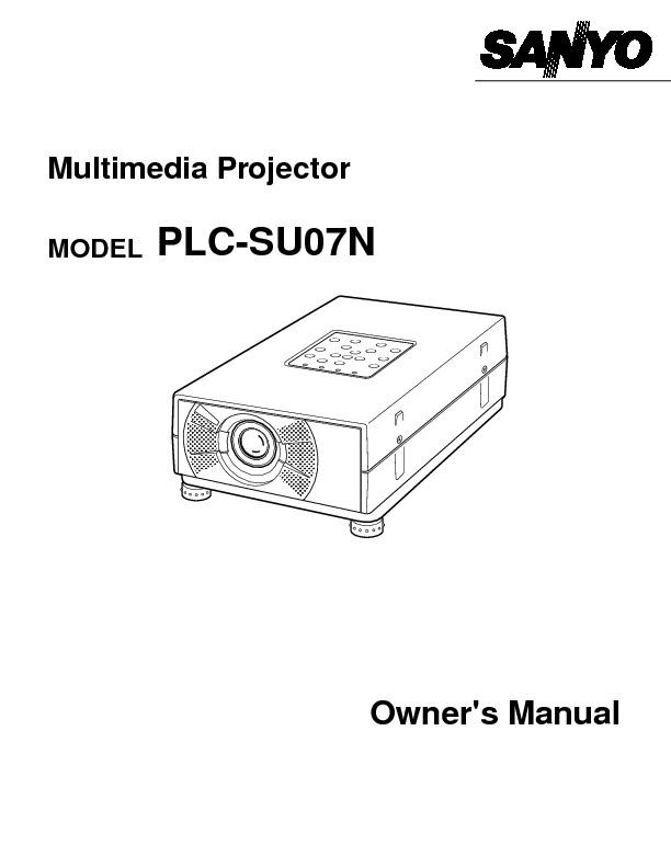 Sanyo SANYO PLCSU07N Manual SANYO PLCSU07N pdf Diagramas