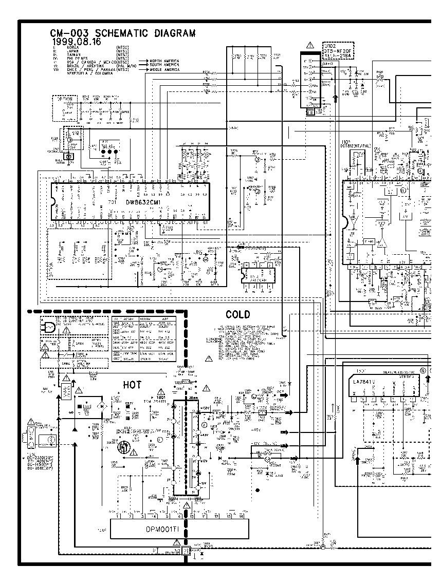 DEWO DAEWOO DTH 20V5 CM 003 Chasis CM 003 pdf Diagramas de