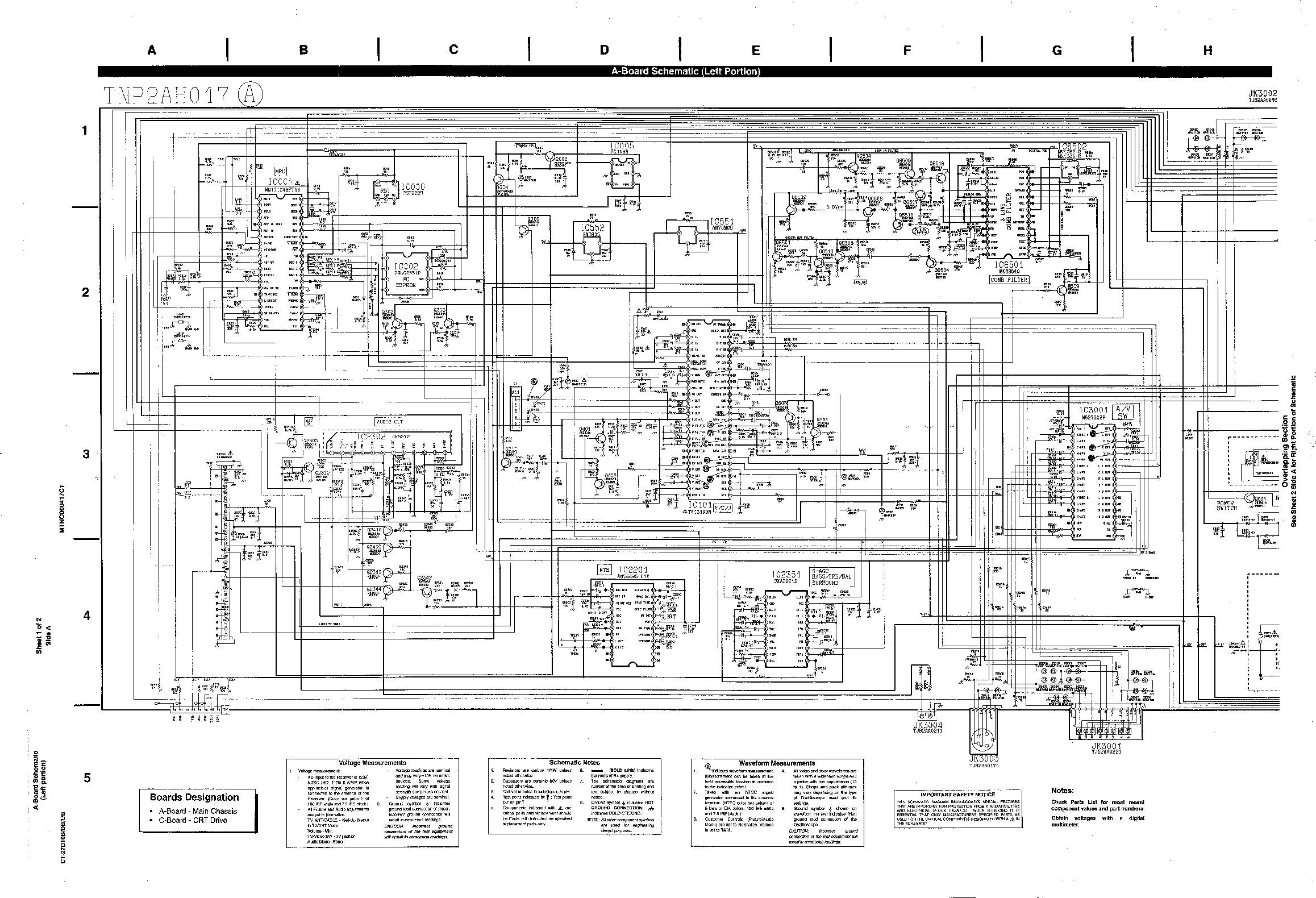 Panasonic CT 27D10B CT 27D10B 2 pdf Diagramas de