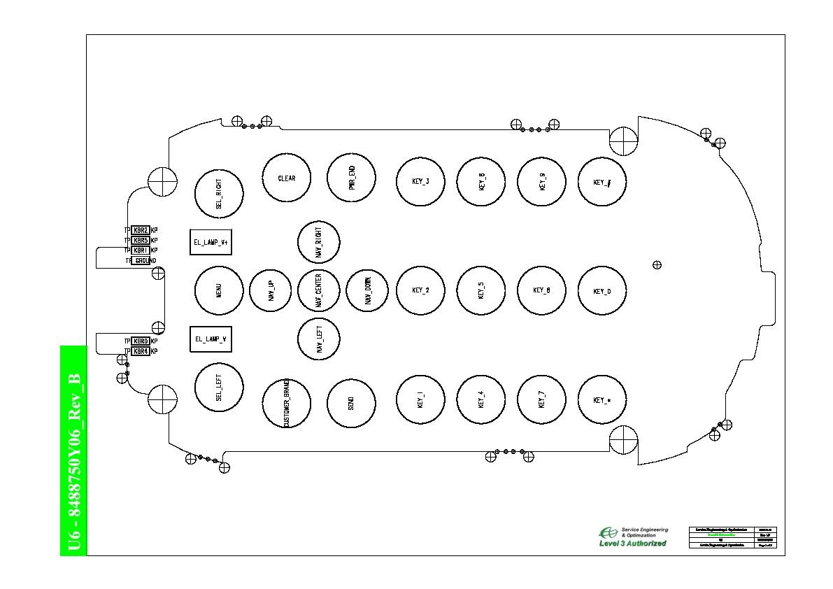 Motorola u6 BL U6 A3 BW L3 V8488750Y06 Rev B pdf Diagramas