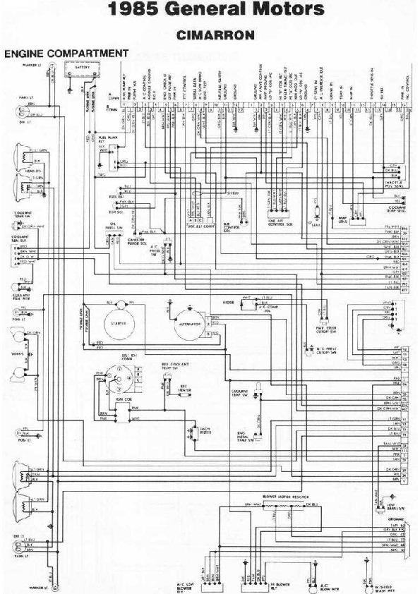 Cadillac Cimarron diag85081 small pdf Diagramas de autos