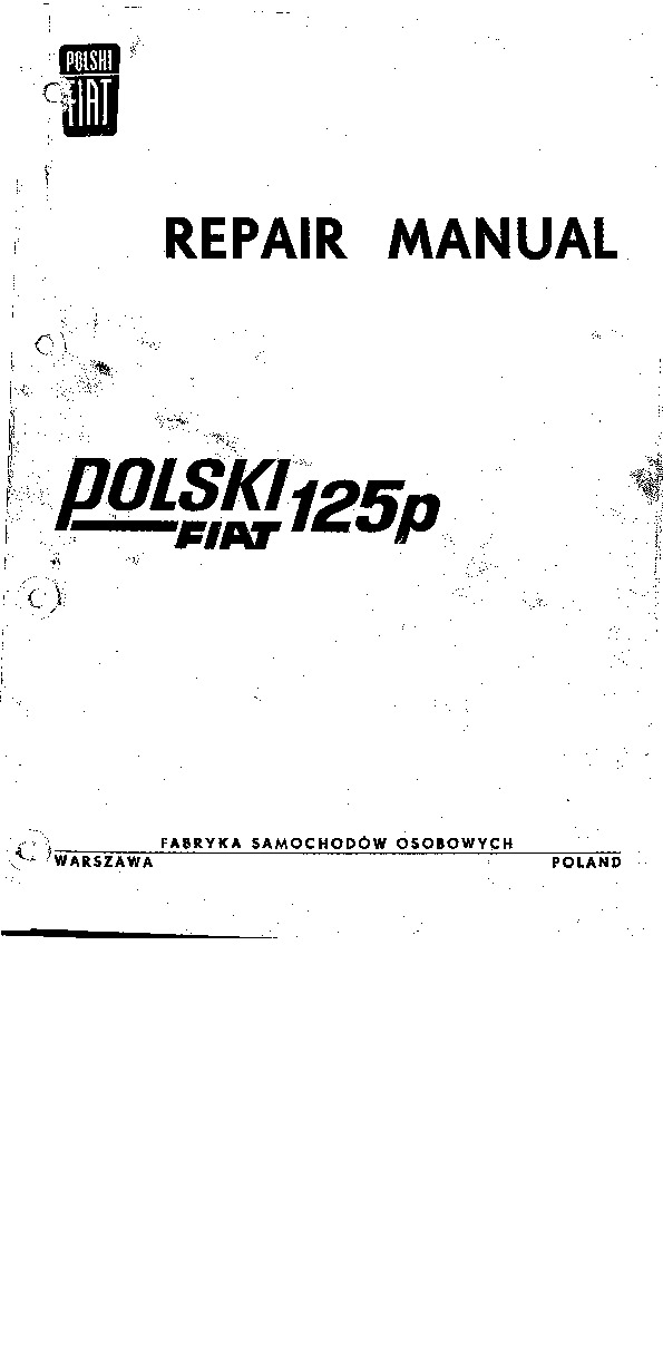 fiat 125 Polski Fiat 125p Repair Manual pdf Diagramas de