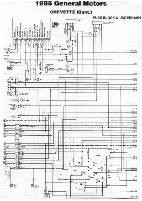 CHEVROLET chevette 85 diag85074 small pdf Diagramas de