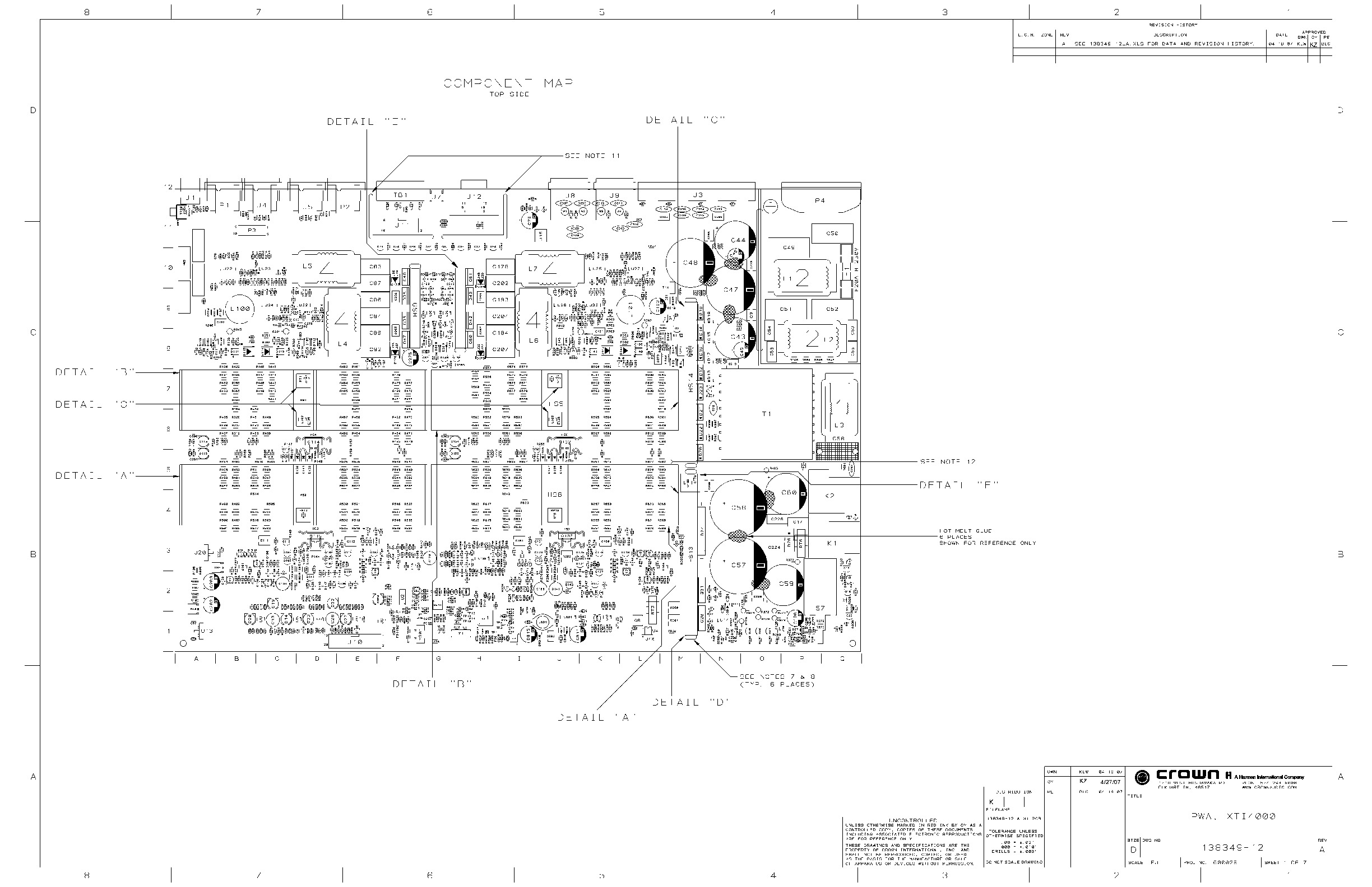 CROWN XTI 4000 Crown XTI 4000 schematic pdf Diagramas de