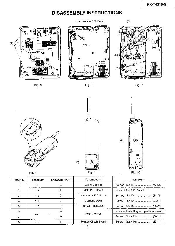 Panasonic KX T4310 508982 04 pdf Diagramas de telefonos