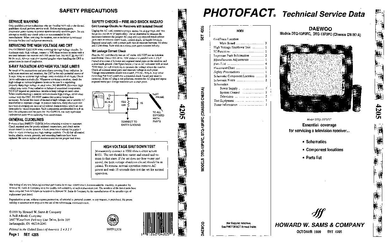 Daewoo Daewoo DTQ 13P2FC 13P3FC pdf Diagramas de