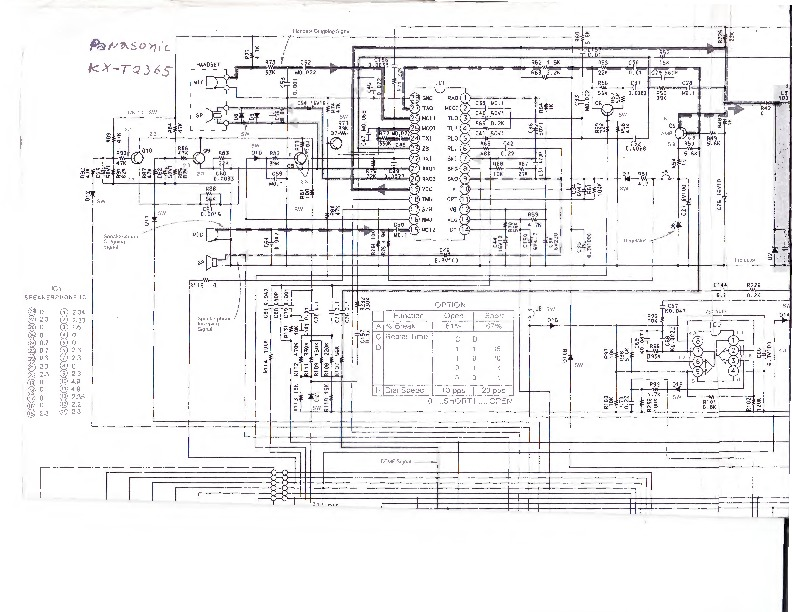 Panasonic Telefono Panasonic KX T2365 pdf Diagramas de