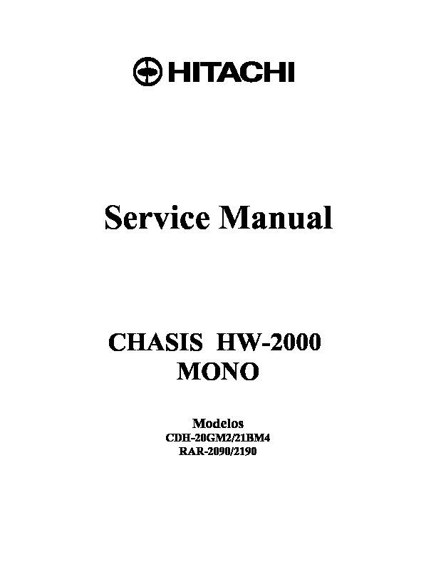HITACHI 20GM2 HW 2000 CDH 20GM2 pdf Diagramas de