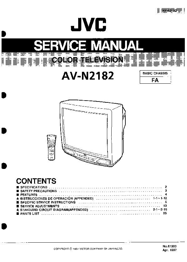 JVC AV N2182 AV N2182 pdf Diagramas de Televisores Lcd y