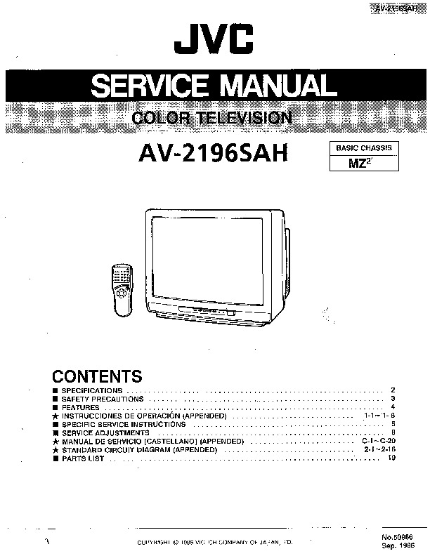 [DIAGRAM] Schematic Diagram Manual Jvc C N14210 Color Tv