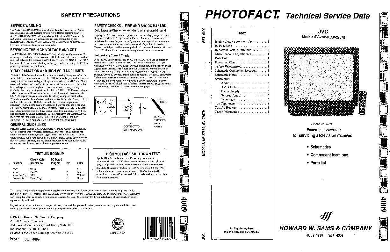 JVC JVC AV 27850 pdf Diagramas de Televisores Lcd y Plasma