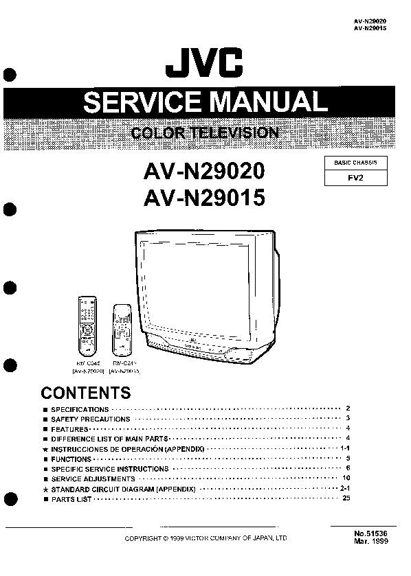 JVC JVC AV N29020, AV N29015 Basic Chassis FV2 jvc av