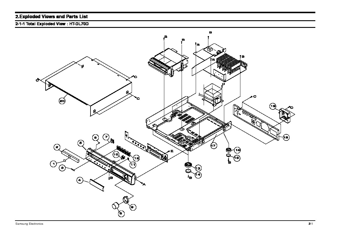 SAMSUNG HT DL70D HT DL70D pdf Diagramas de dvd blue ray