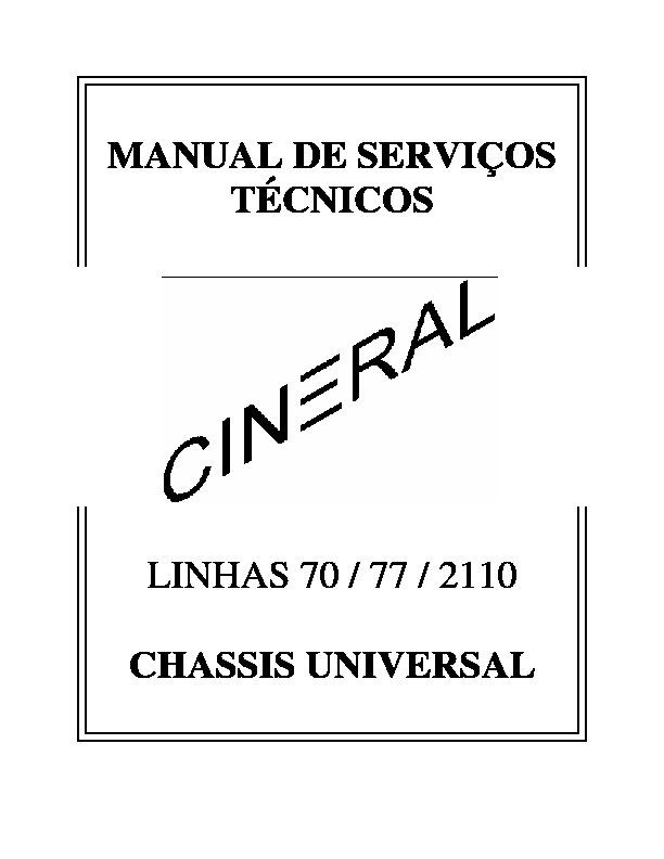 nisato cineral Manual de Service lineas CINERAL 70 77 2110