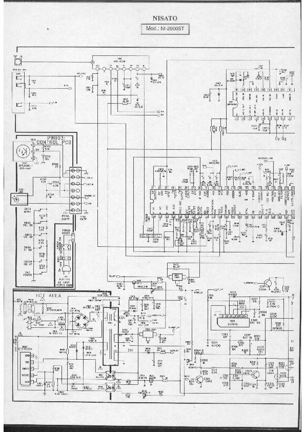 nisato NI 2900/01ST Tv NISATO NI 2900ST pdf Diagramas de