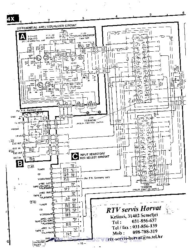 TECHNICS SU V4X SU V4X pdf Diagramas de AUDIO