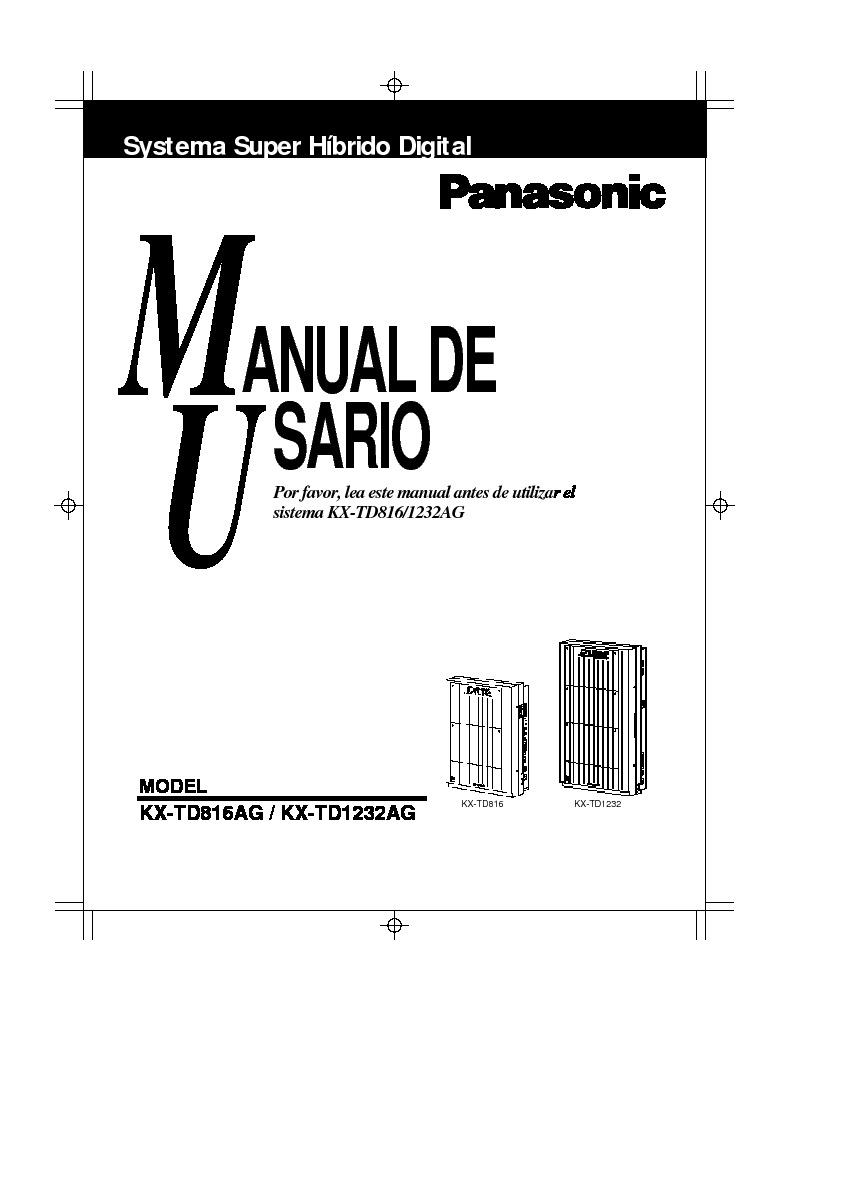 Panasonic panasonic KX TD1232 us1232AG pdf Diagramas de