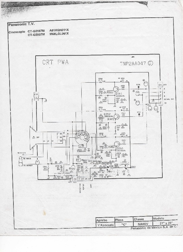 Panasonic CT G2157M img019 pdf Diagramas de Televisores
