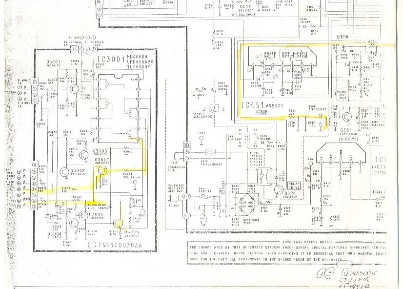 Panasonic Panasonic CT1451R pdf Diagramas de Televisores