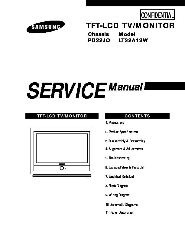 Samsung LT22A13WX pdf Diagramas de Televisores Lcd y