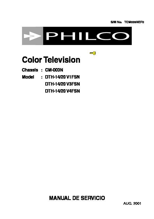 PHILCO philco dth 14v1fsn,20v1fsn ch cm003n philco dth