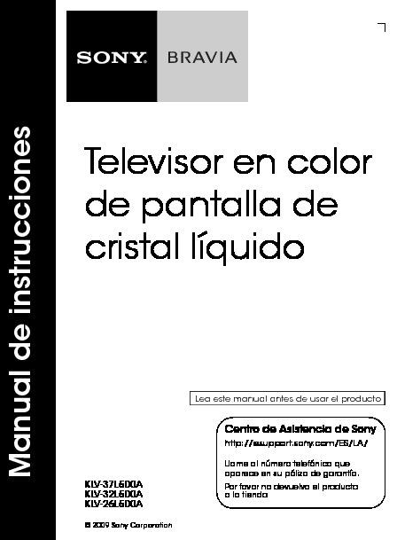 SONY KLV32L500A ES sony tv pdf Diagramas de Televisores