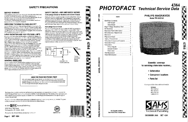 PHILIPS 20PR1920C125 ChasisE8 20PR1920C125ChasisE8 pdf