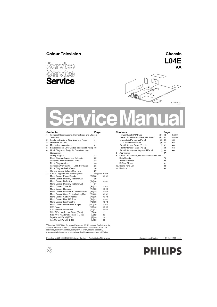 PHILIPS 29pt5408/01 29pt5408 01 pdf Diagramas de