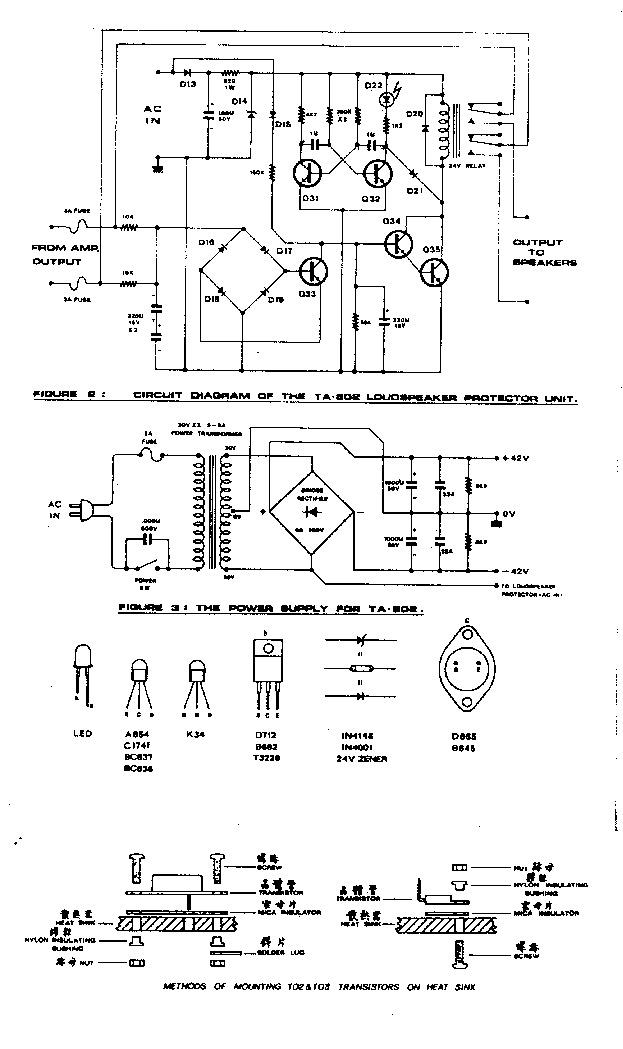 Circuitos AMP. TA 802 pdf Diagramas de circuito