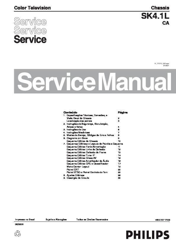 PHILIPS Philips 21PT9467C 77 Chasis SK4 1L CA pdf