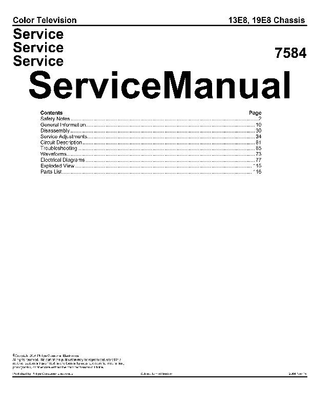 PHILIPS Philips PR1305 C121 Chasis 13E800 7584 pdf