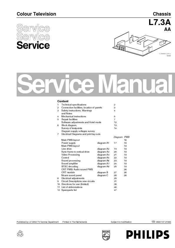PHILIPS Philips+L7.3A+AA pdf Diagramas de Televisores Lcd