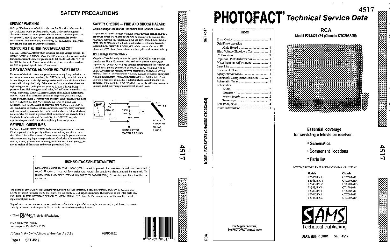 RCA CTC 205AD5 CTC203AD5 RCA TV pdf Diagramas de