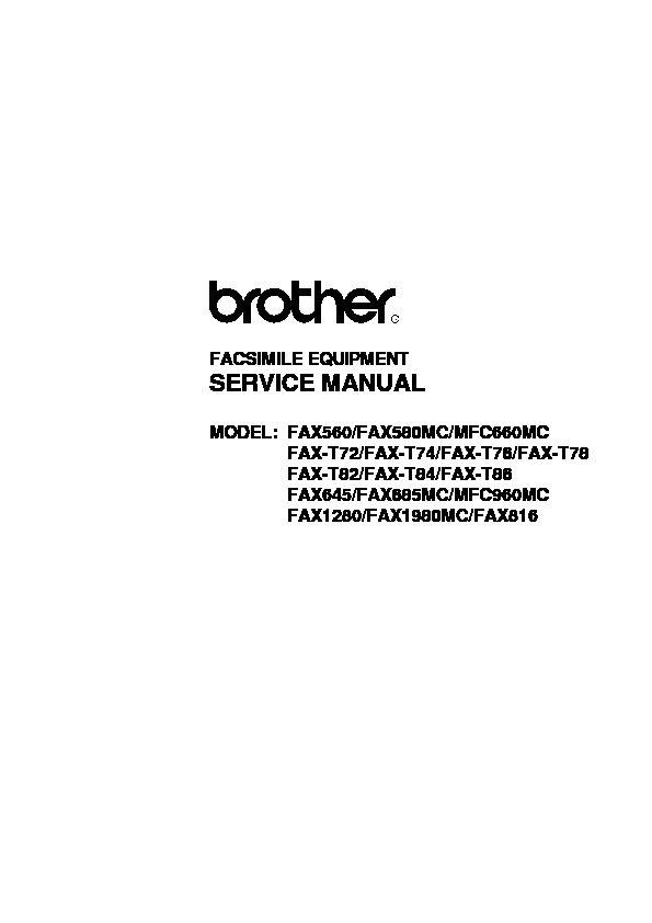 Brother brother 565 Service Manual FAX565 pdf Diagramas de