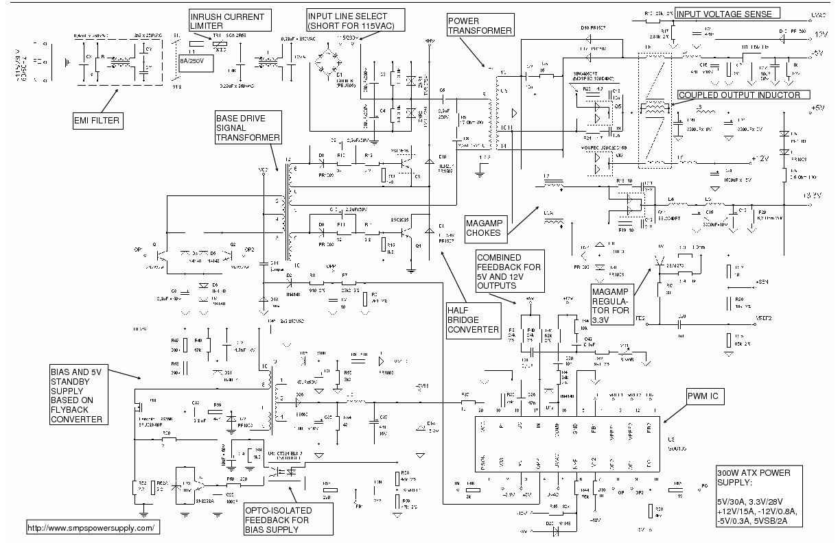 120vac To 12vdc Power Supply Schematic