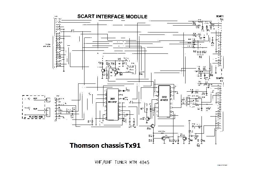 RCA THOMSON RCA 2010 CHASSIS TX91a pdf Diagramas de