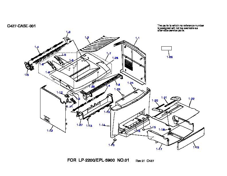 Epson EPL 5900 C11C428041 EPL 5900diagrama pdf Diagramas